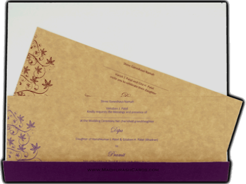 Buy Hindu Wedding Cards - HWC-14156 Online Madhurash Cards