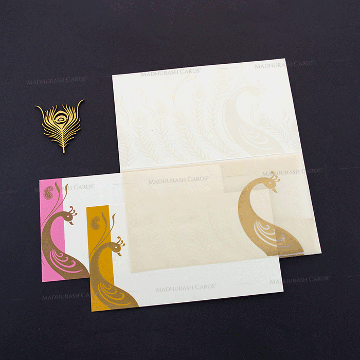 Hindu Wedding Cards - HWC-14170 - 4
