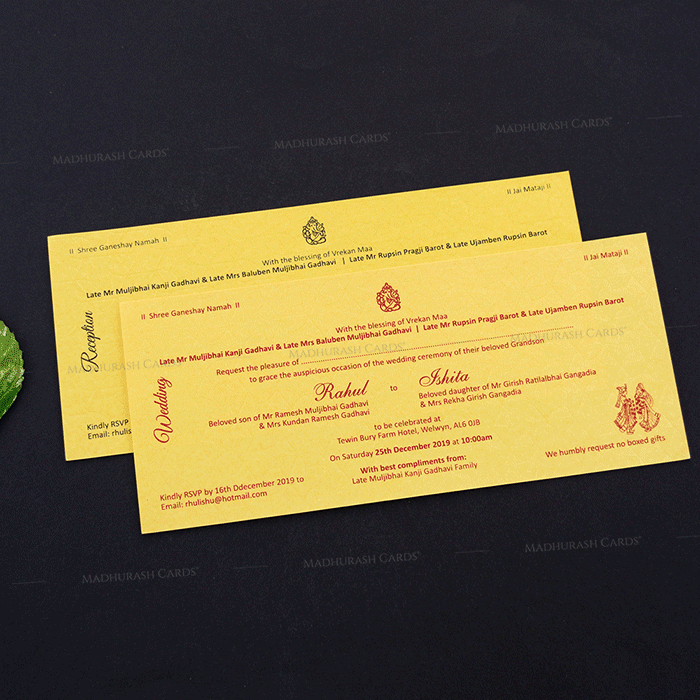 Hindu Wedding Cards - HWC-14268 - 4