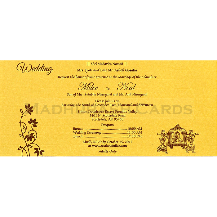 Hindu Wedding Cards - HWC-14268 - 5