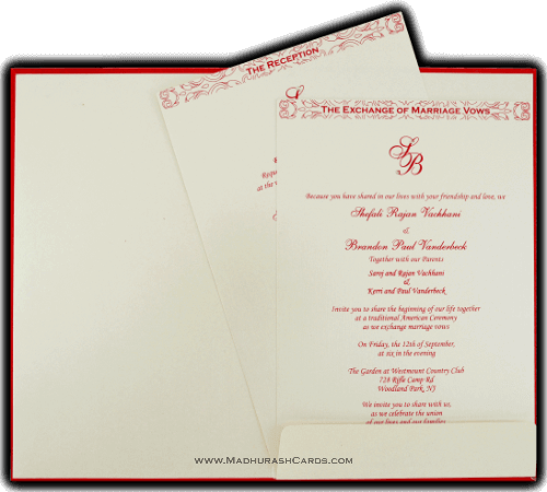 Custom Wedding Cards - CZC-9030RW - 4