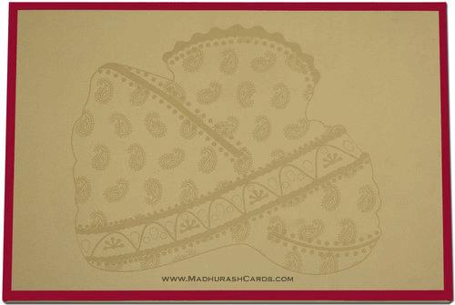 Custom Wedding Cards - CZC-9012R - 3
