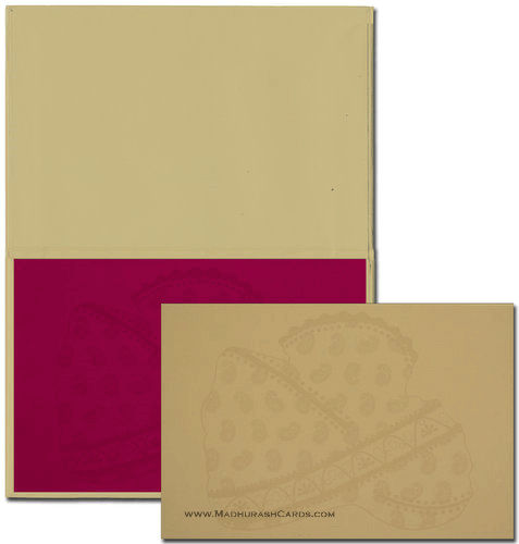 Custom Wedding Cards - CZC-9012R - 4