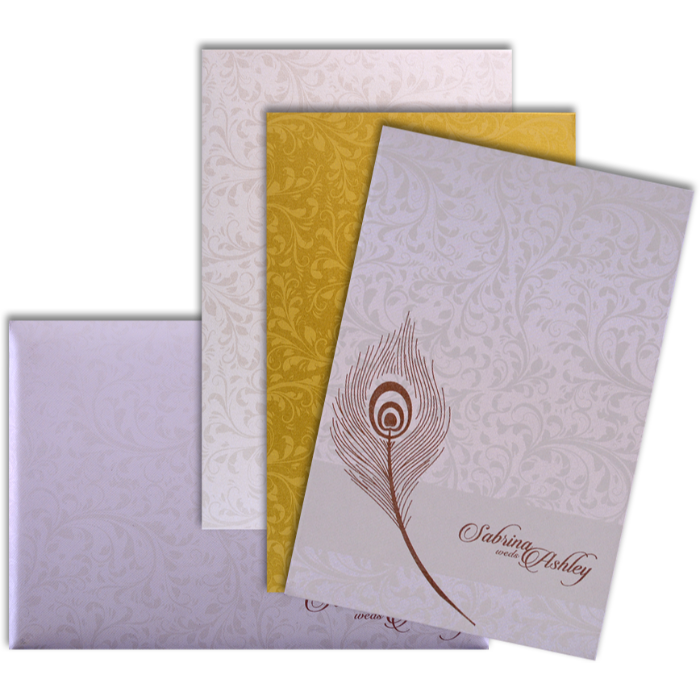 Custom Wedding Cards - CZC-9028CC - 4