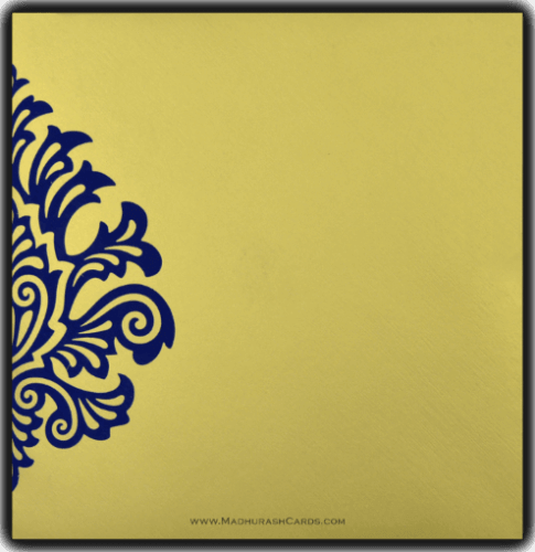 Hindu Wedding Cards - HWC-9081BG - 3