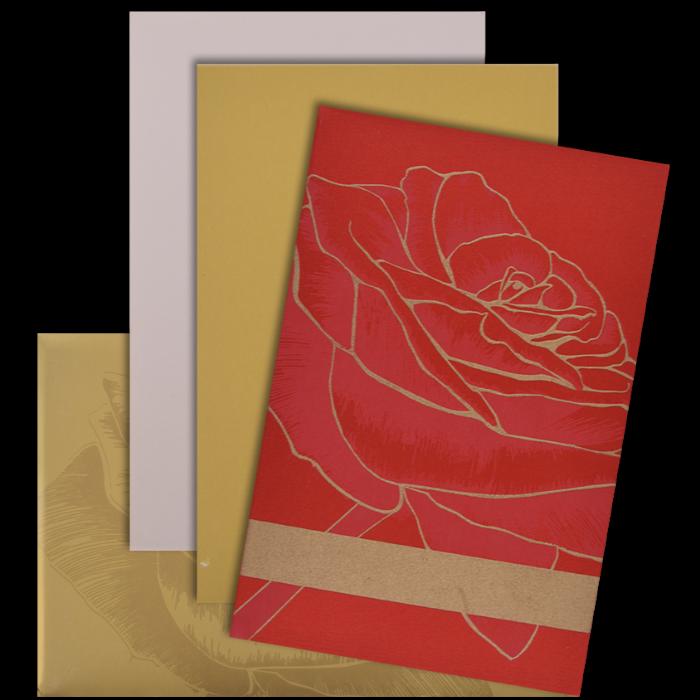 Custom Wedding Cards - CZC-9101RG - 4