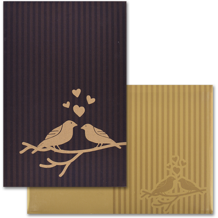 test Custom Wedding Cards - CZC-9102BRG