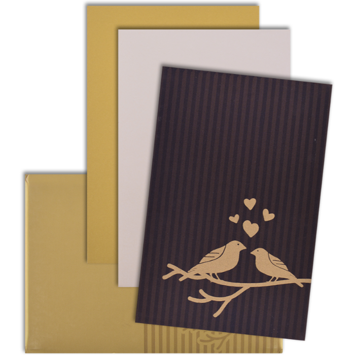 Custom Wedding Cards - CZC-9102BRG - 4