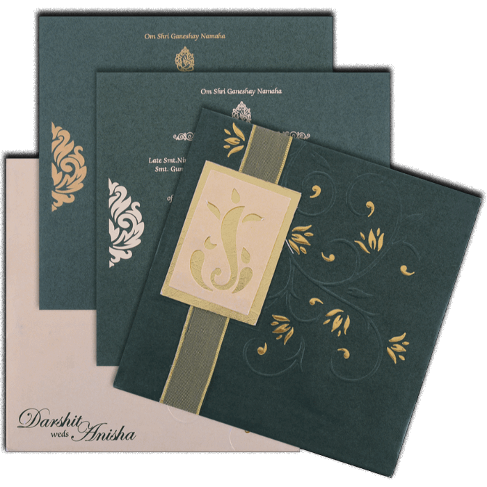 Hard Bound Wedding Cards - HBC-4355 - 5