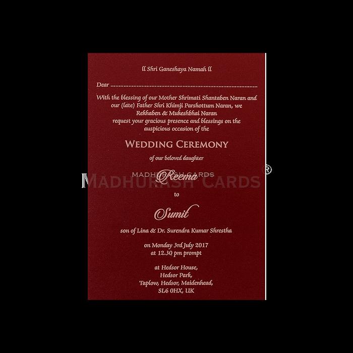 Muslim Wedding Cards - MWC-7046 - 5