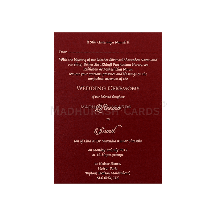 Christian Wedding Cards - CWI-7046 - 5