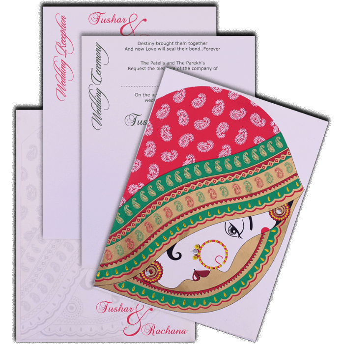 Hindu Wedding Cards - HWC-7464 - 5