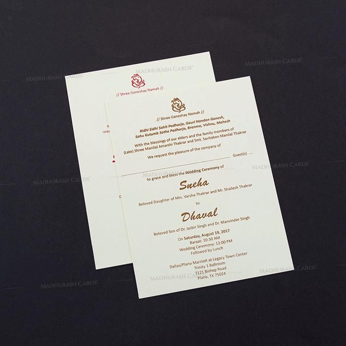 Designer Wedding Cards - DWC-7464 - 4