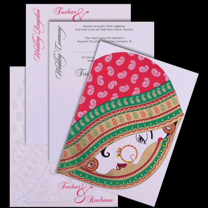 Designer Wedding Cards - DWC-7464 - 5