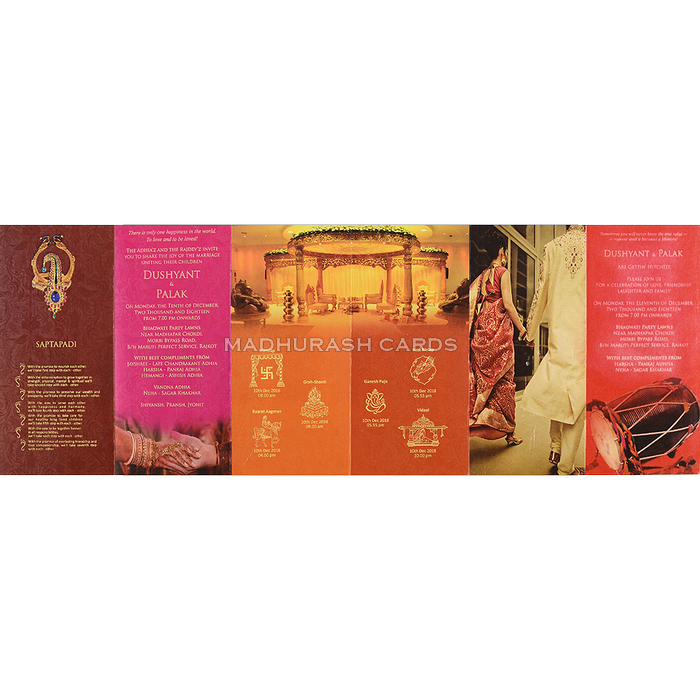 Hindu Wedding Cards - HWC-7478 - 4
