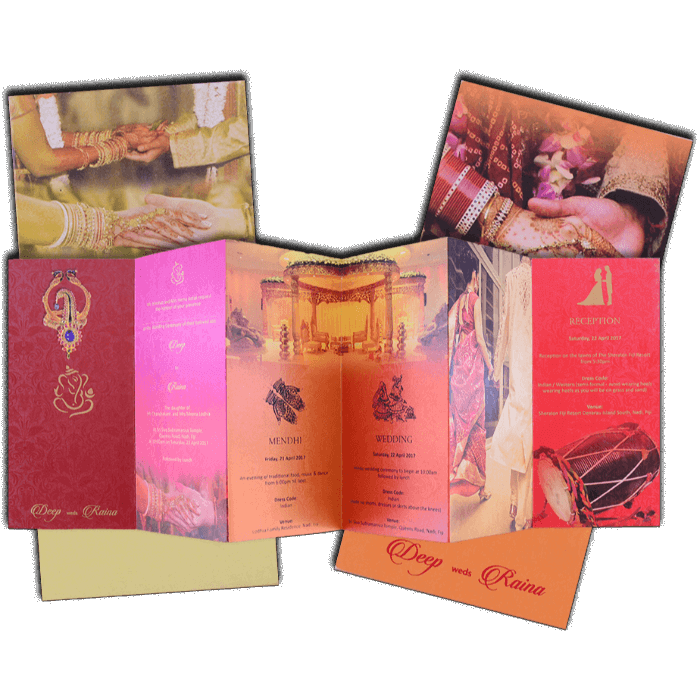 Hindu Wedding Cards - HWC-7478 - 5