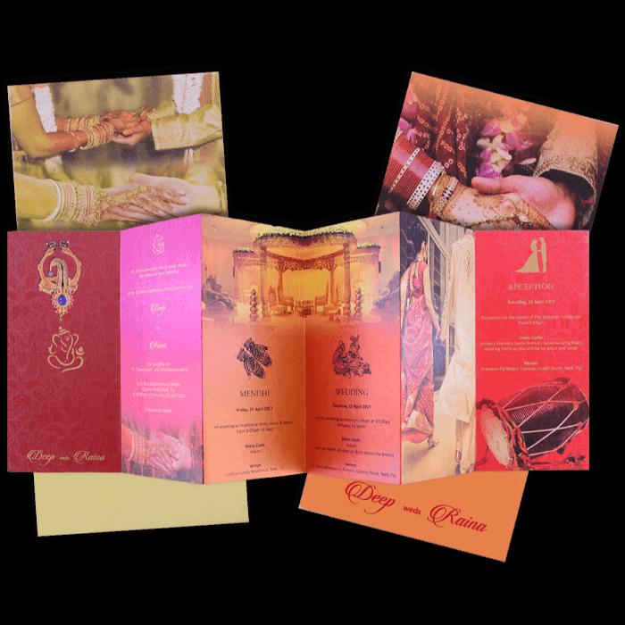 Hindu Wedding Cards - HWC-7478 - 5