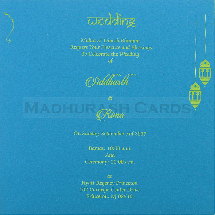 Hindu Wedding Cards - HWC-7498 - 5