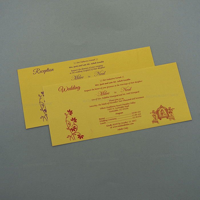 Hindu Wedding Cards - HWC-7504 - 4