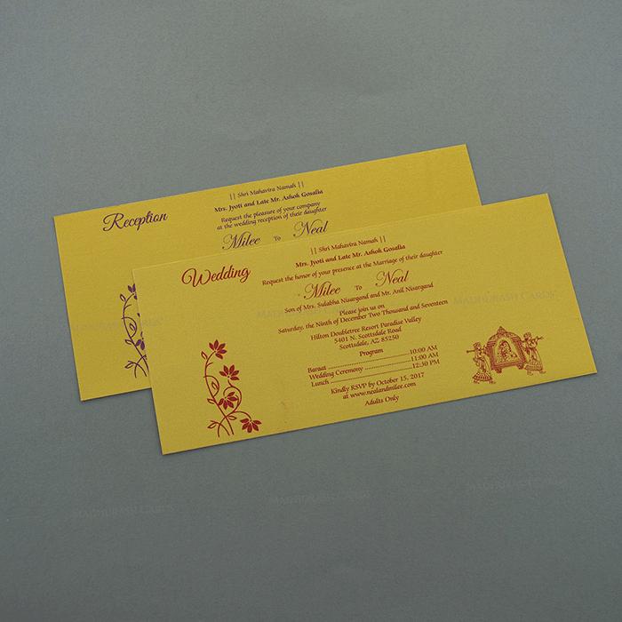 Hindu Wedding Cards - HWC-7504 - 4