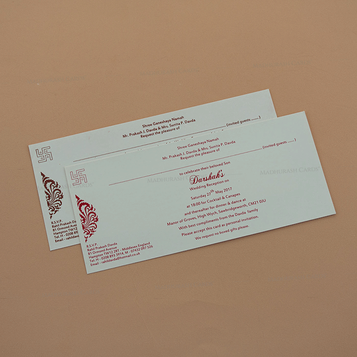 Hindu Wedding Cards - HWC-7670 - 4