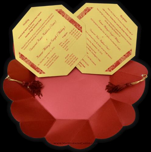 Custom Wedding Cards - CZC-7318 - 4
