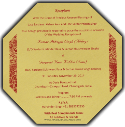Custom Wedding Cards - CZC-7318 - 5