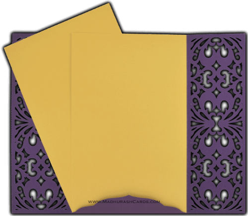 Custom Wedding Cards - CZC-9015VG - 4