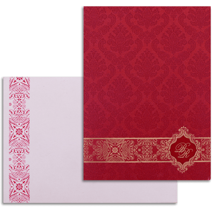 test Custom Wedding Cards - CZC-9044RC