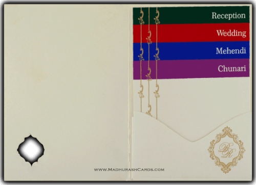 Custom Wedding Cards - CZC-9046CC - 4