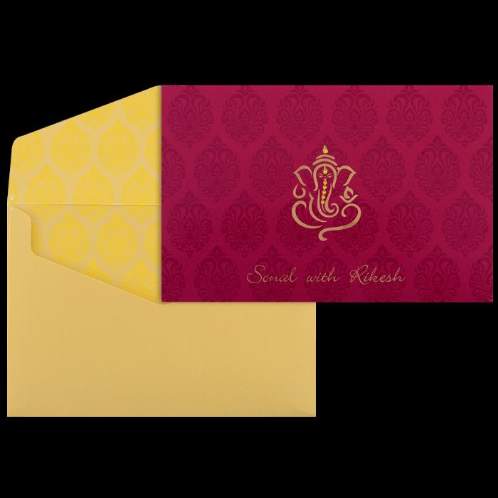 test Custom Wedding Cards - CZC-9070PG