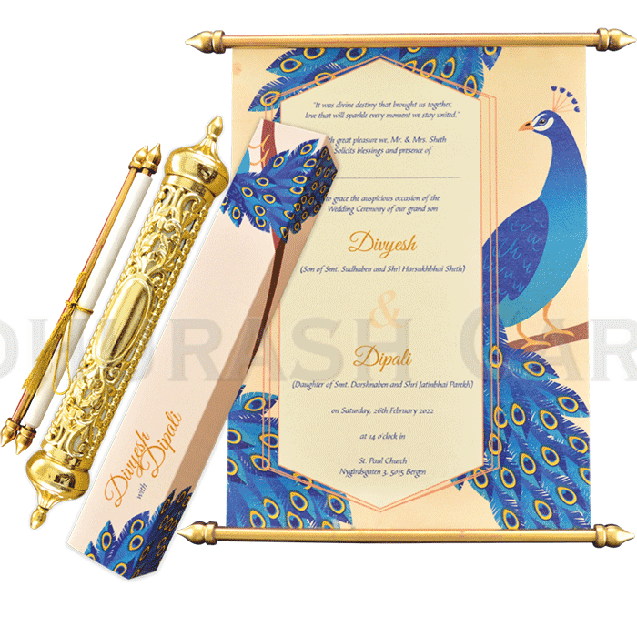test Royal Scroll Invitations - SC-6020