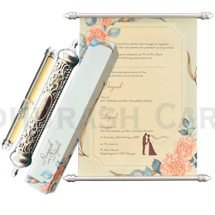 Royal Scroll Invitations - SC-6021