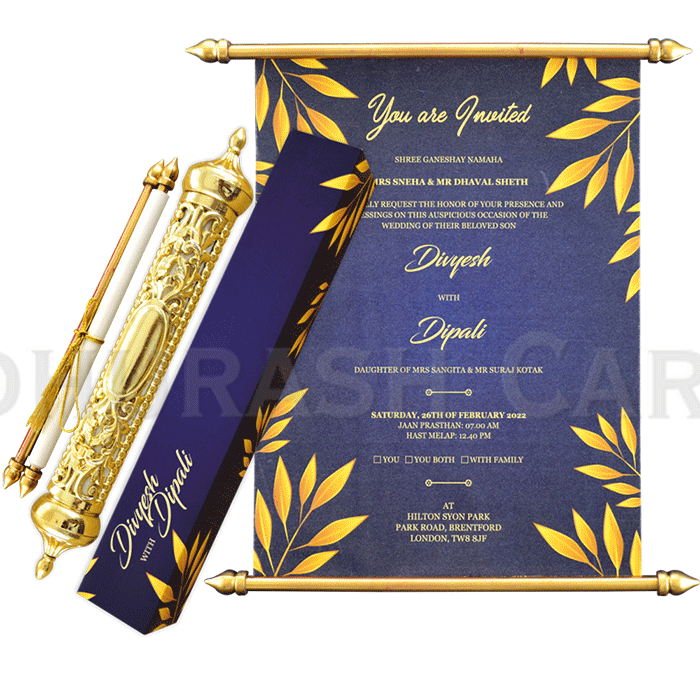 test Royal Scroll Invitations - SC-6022