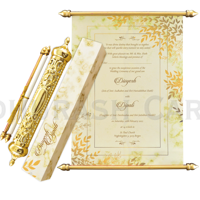 Royal Scroll Invitations - SC-6023