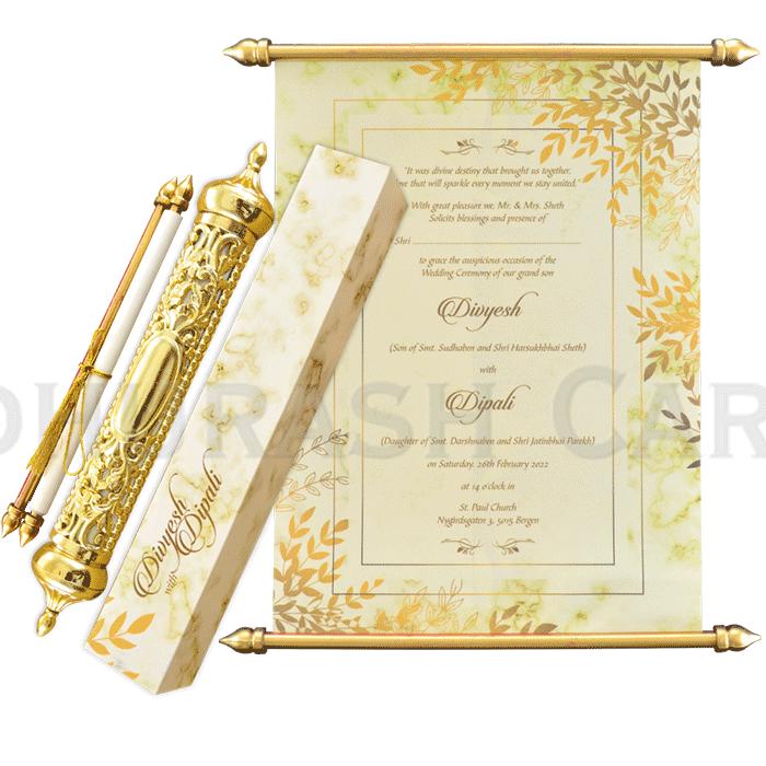 Royal Scroll Invitations - SC-6023