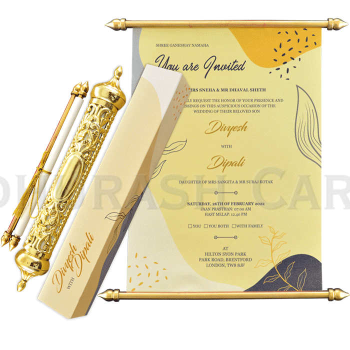 test Royal Scroll Invitations - SC-6024