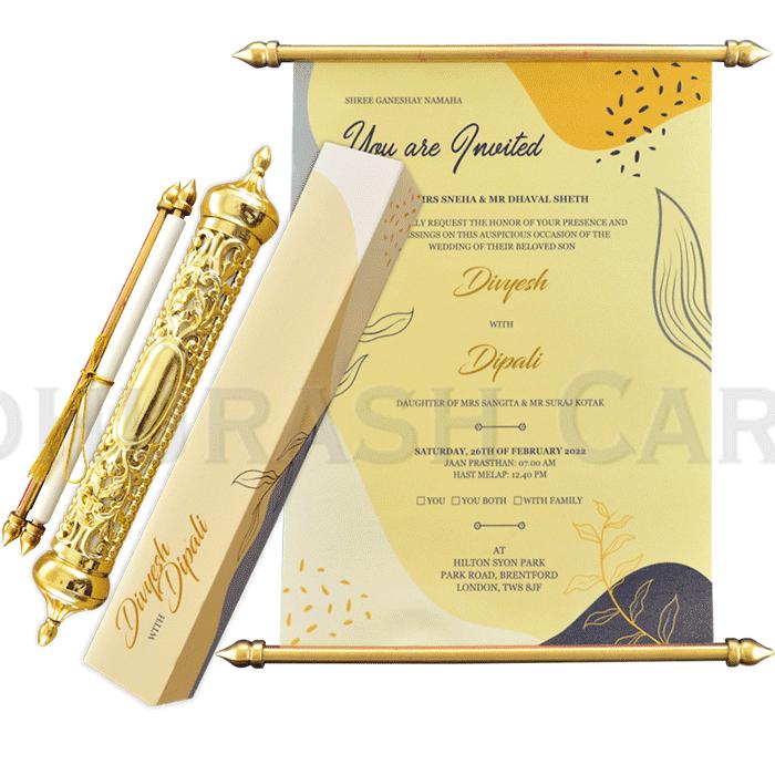 Royal Scroll Invitations - SC-6024