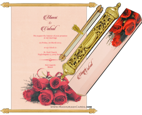 test Royal Scroll Invitations - SC-6025