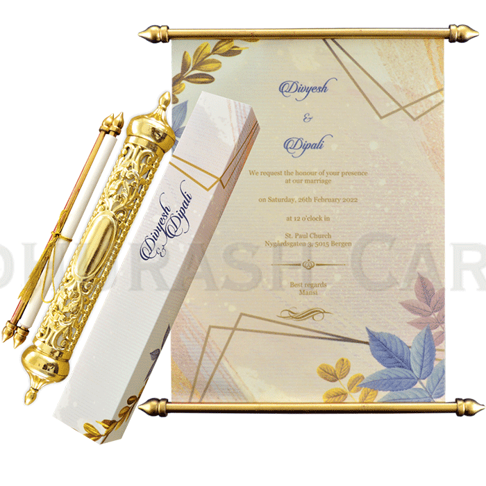 Royal Scroll Invitations - SC-6026