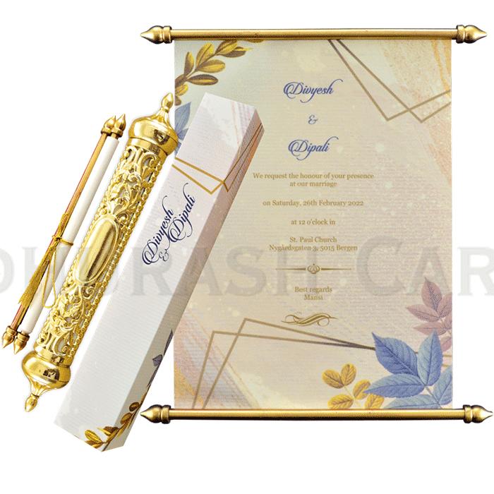 Royal Scroll Invitations - SC-6026