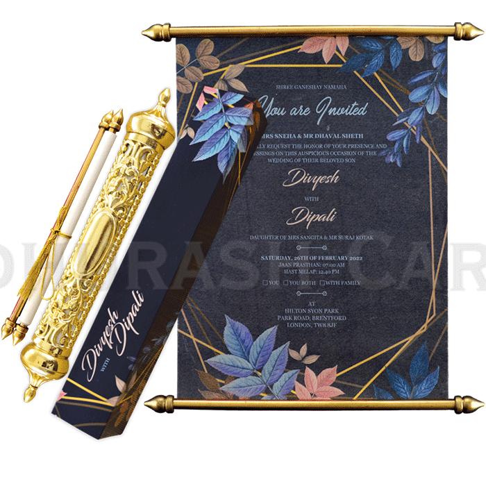 test Royal Scroll Invitations - SC-6027
