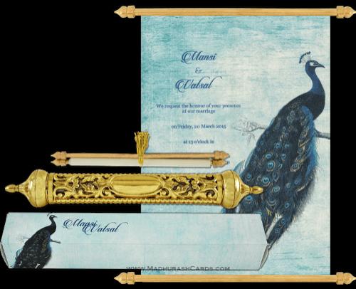 test Royal Scroll Invitations - SC-6028