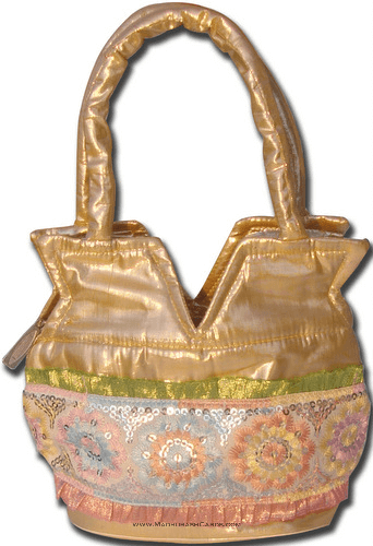 Potli Bags (Batwa Bags) - BB- Kalash shimmer Batwa