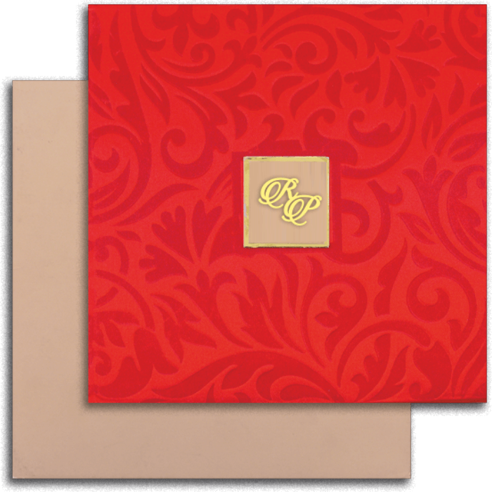 test Hard Bound Wedding Cards - HBC-14032I