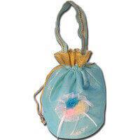 Potli Bags (Batwa Bags) - BB-Shimmer Flower Batwa