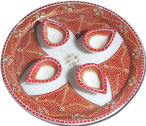 Pooja Thali - PT-Marble Puja Thali 5