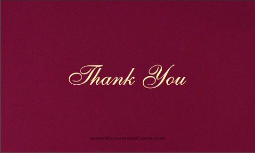 Thank you Cards - THANKYOU-201