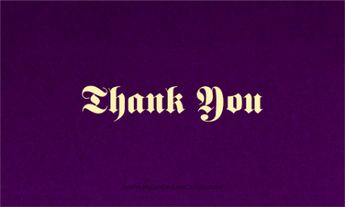 Thank you Cards - THANKYOU-207