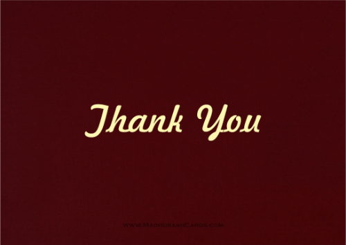 Thank you Cards - THANKYOU-211 - 2